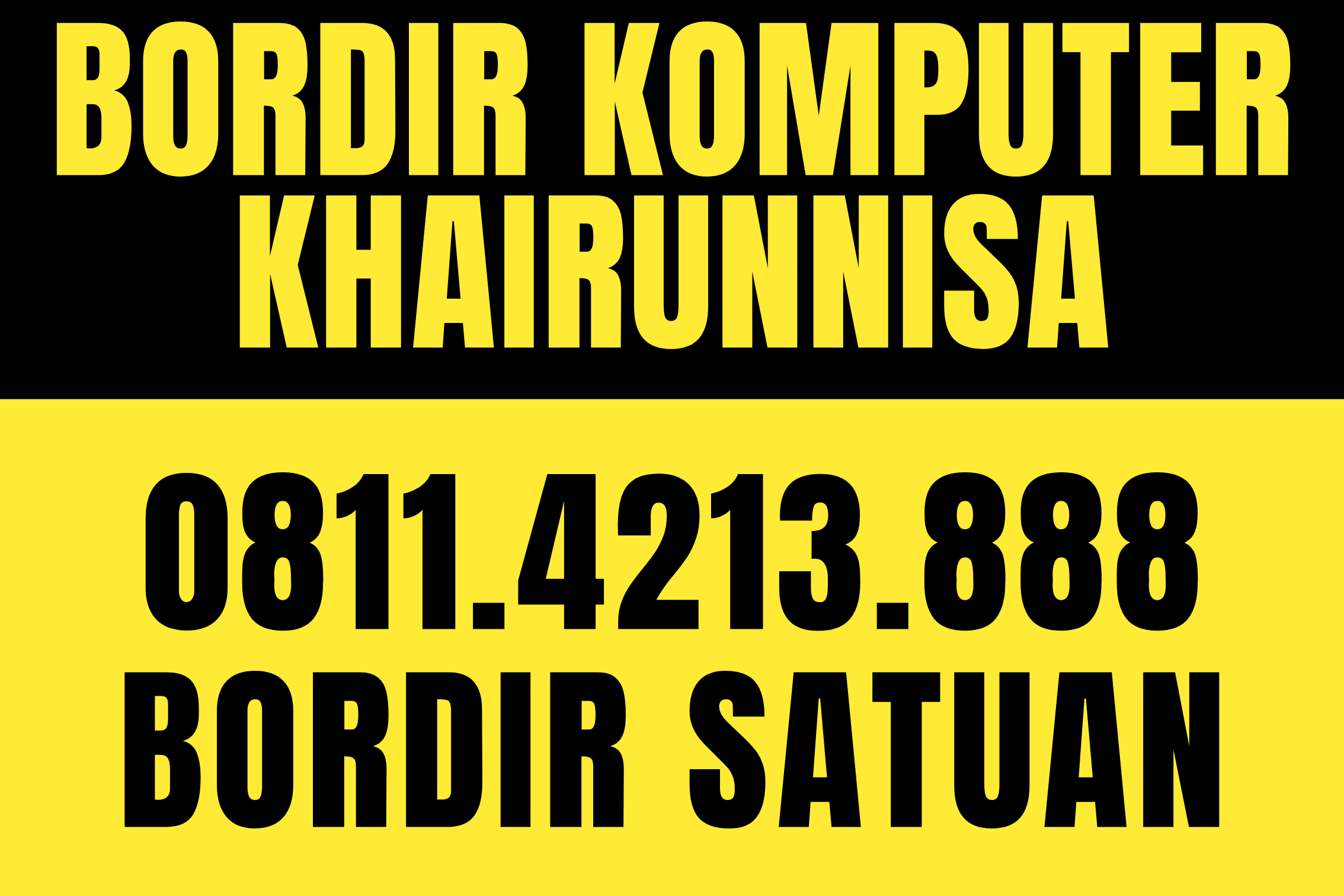 BORDIR SATUAN KHAIRUNNISA 0811.4213.888